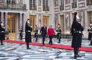 Il Capo del Governo italiano Paolo Gentiloni con la Cancelliera tedesca Angela Merkel